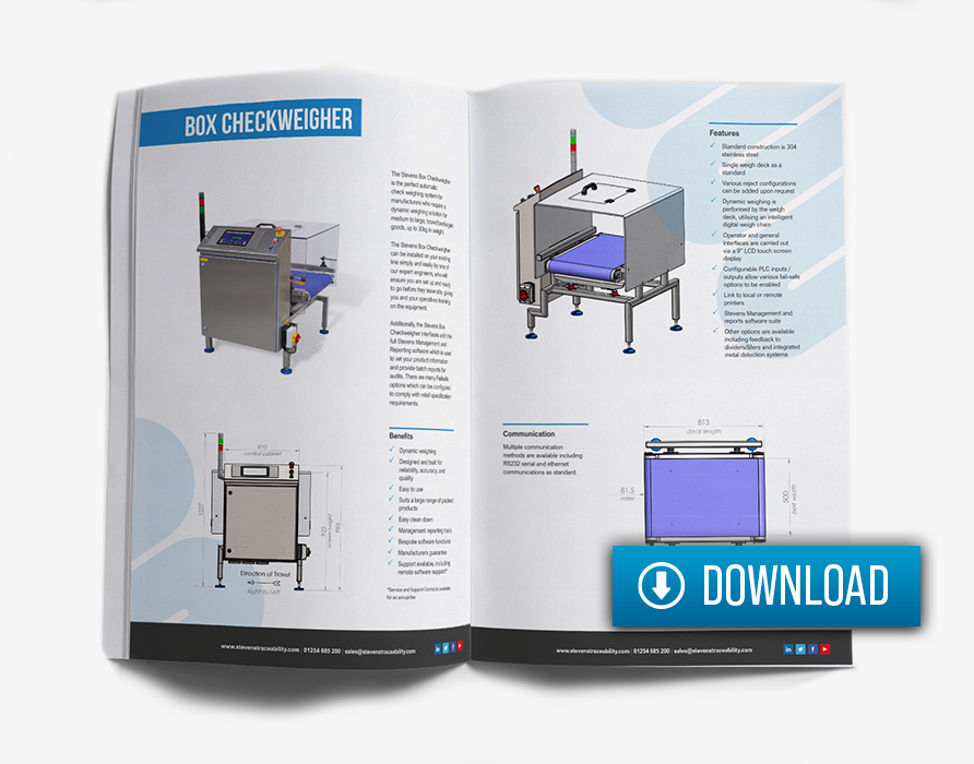 Box Checkweigher for packaged goods - download brochure
