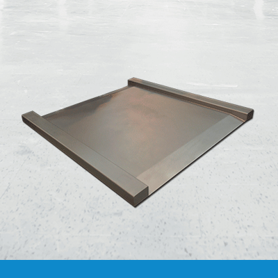 Stainless steel drive through platform scale