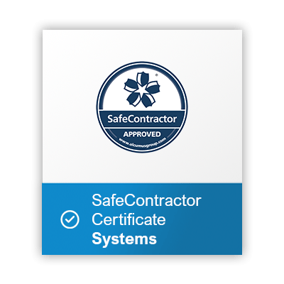 Safe-contractor-Systems-certificate button
