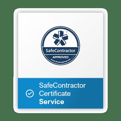 Safe-contractor-service-certificate button