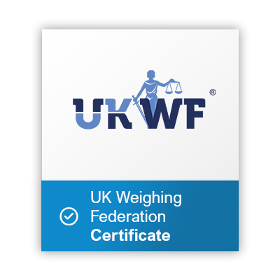 UK Weighing federation cerrtificate button
